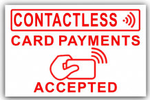 Contactless Card Payments Accepted-Sticker,Shop,Till,Pay,Sign,Notice